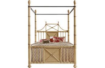 Tempat tidur minimalis mewah canopy bamboo