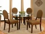 Set Kursi Makan Oval Mahogany