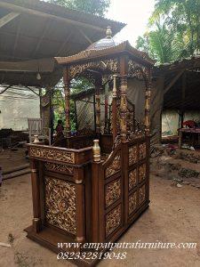 Mimbar Masjid Kayu Jati Jepara